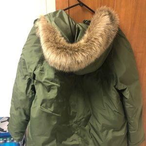 Women's Old Navy Jacket Faux Fur Trim XL